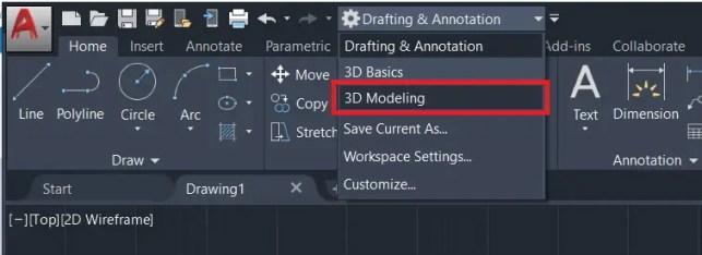 extrude autocad 3D modeling workspace AutoCAD