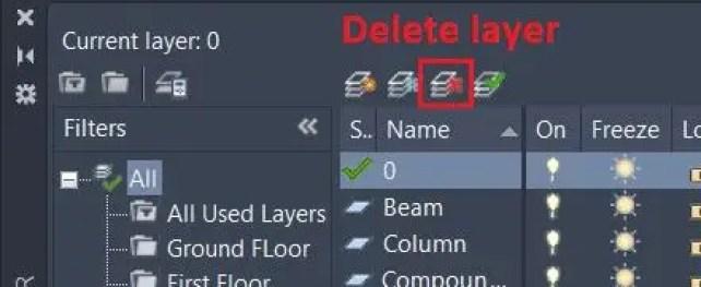 Layer Delete - AutoCAD