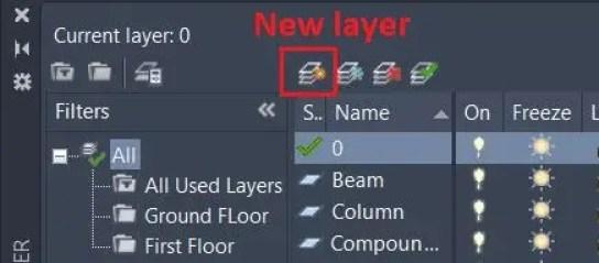 New Layer - AutoCAD