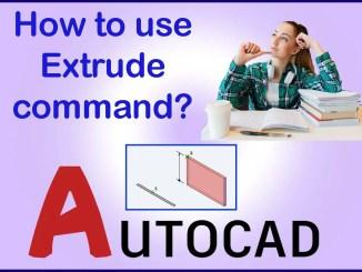 AutoCAD Extrude