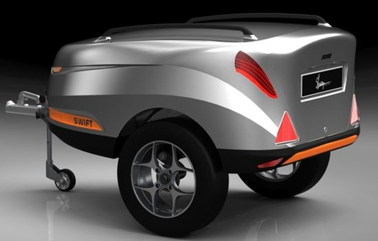 Swift Luggage Trailer Adds Style Comfort To Small Cars Auto Chunk