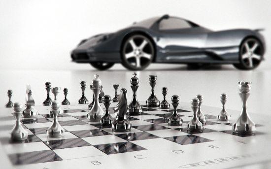 Pagani Zonda chess set 2
