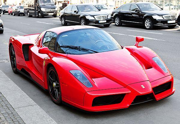 Ferrari Enzo in the streets of Berlin