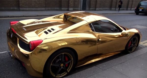 Gold Ferrari 458 Spider