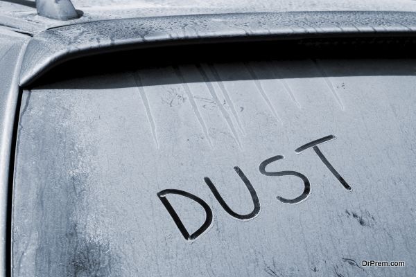 Dusty car