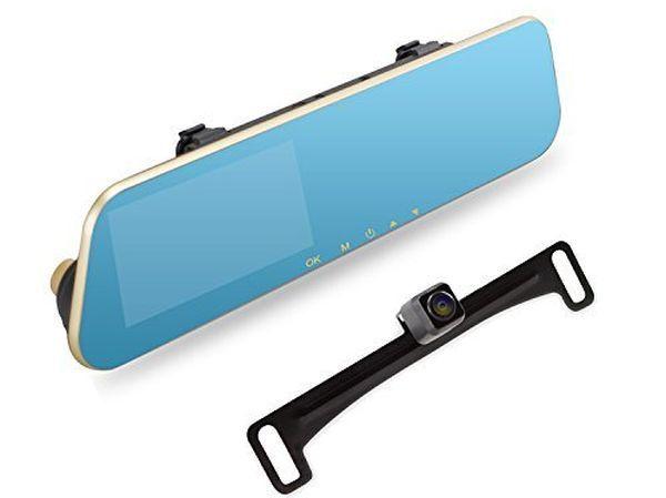 AUTO-VOX M2 1080P HD Dual lensRearview Mirror Dash Cam