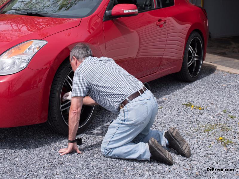 Examine tires