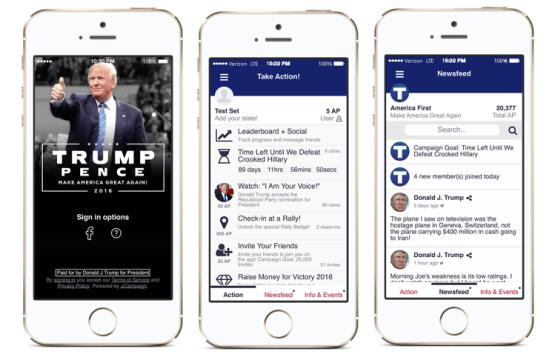 Trump America First App Privacy Concerns