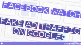 facebook watch, fake ad traffic on google