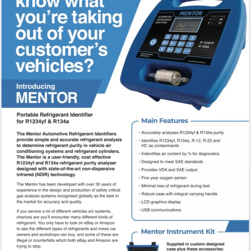 Mentor Gas Analyser