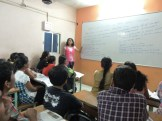 X Std student giving her presentation(3)