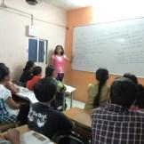 X Std student giving her presentation(3)