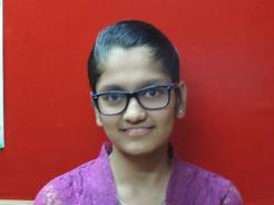 Gunjan Sureka 9th std (Kothari Convent) 3rd Rank & full marks in Algebra, Geometry, Geography