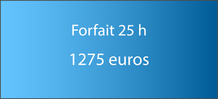 forfait 25 h
