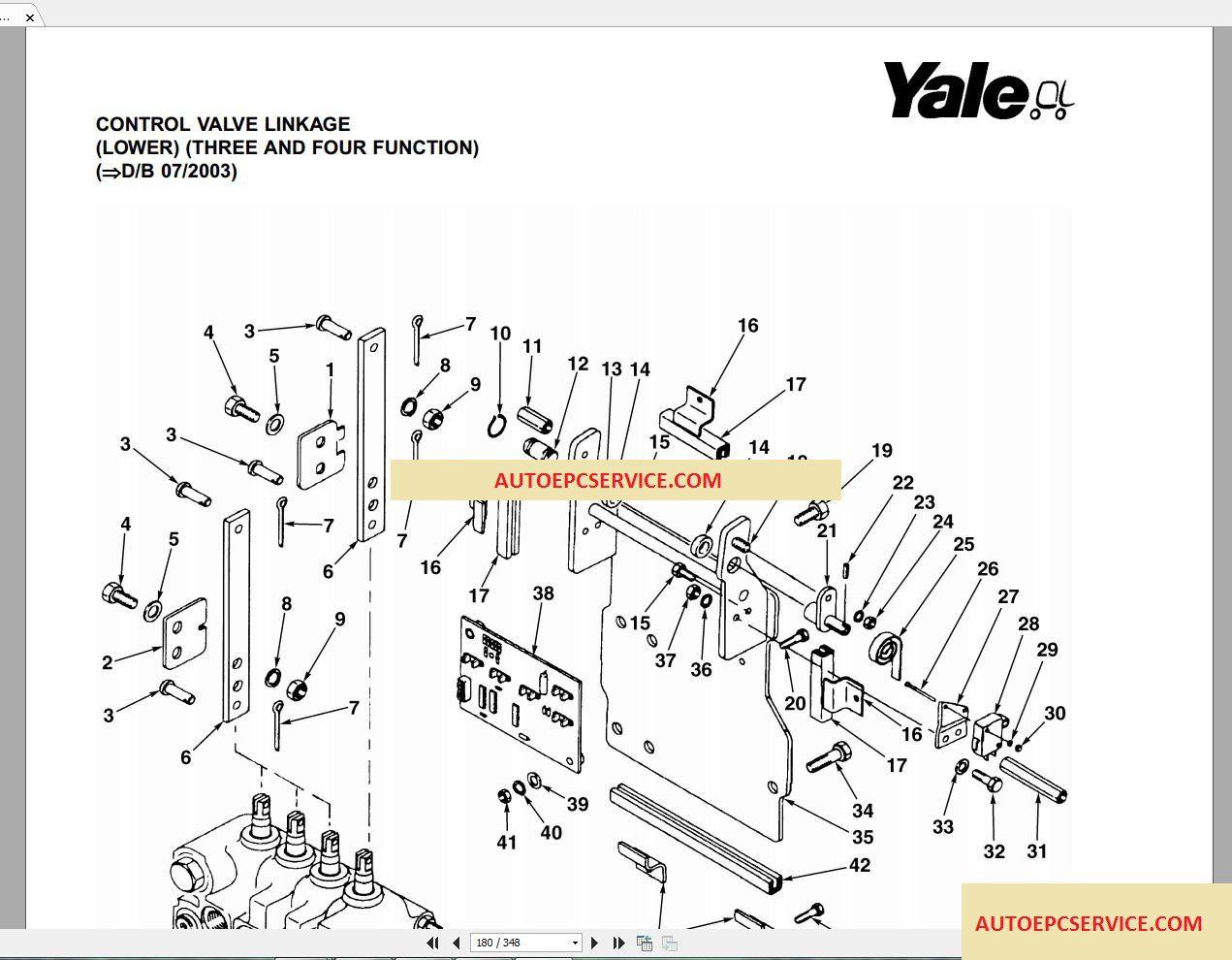 Yale Forklift Spare Parts Full Set