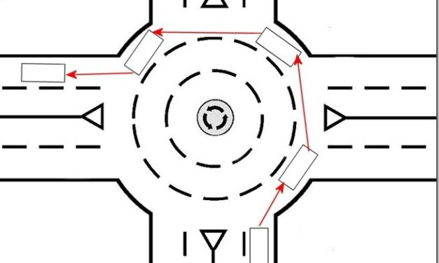 Como circular en una intersección de circulación giratoria