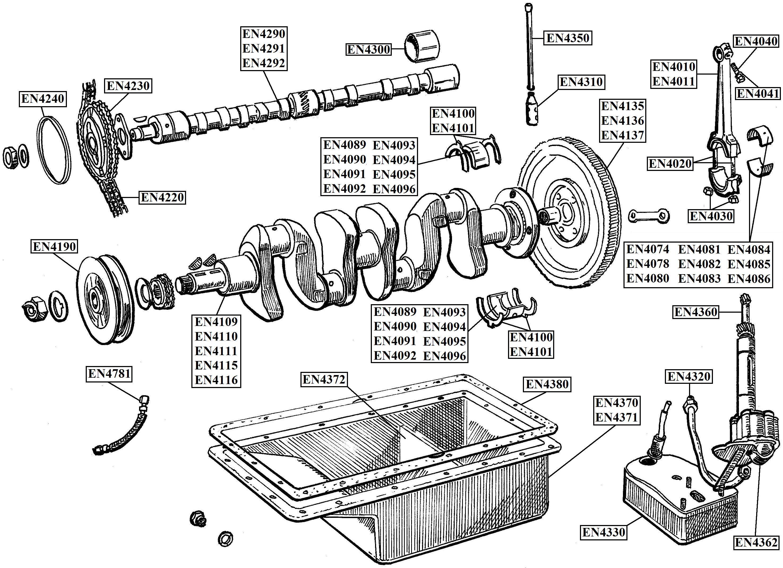 Austin Healey 4 Cylinder Engine