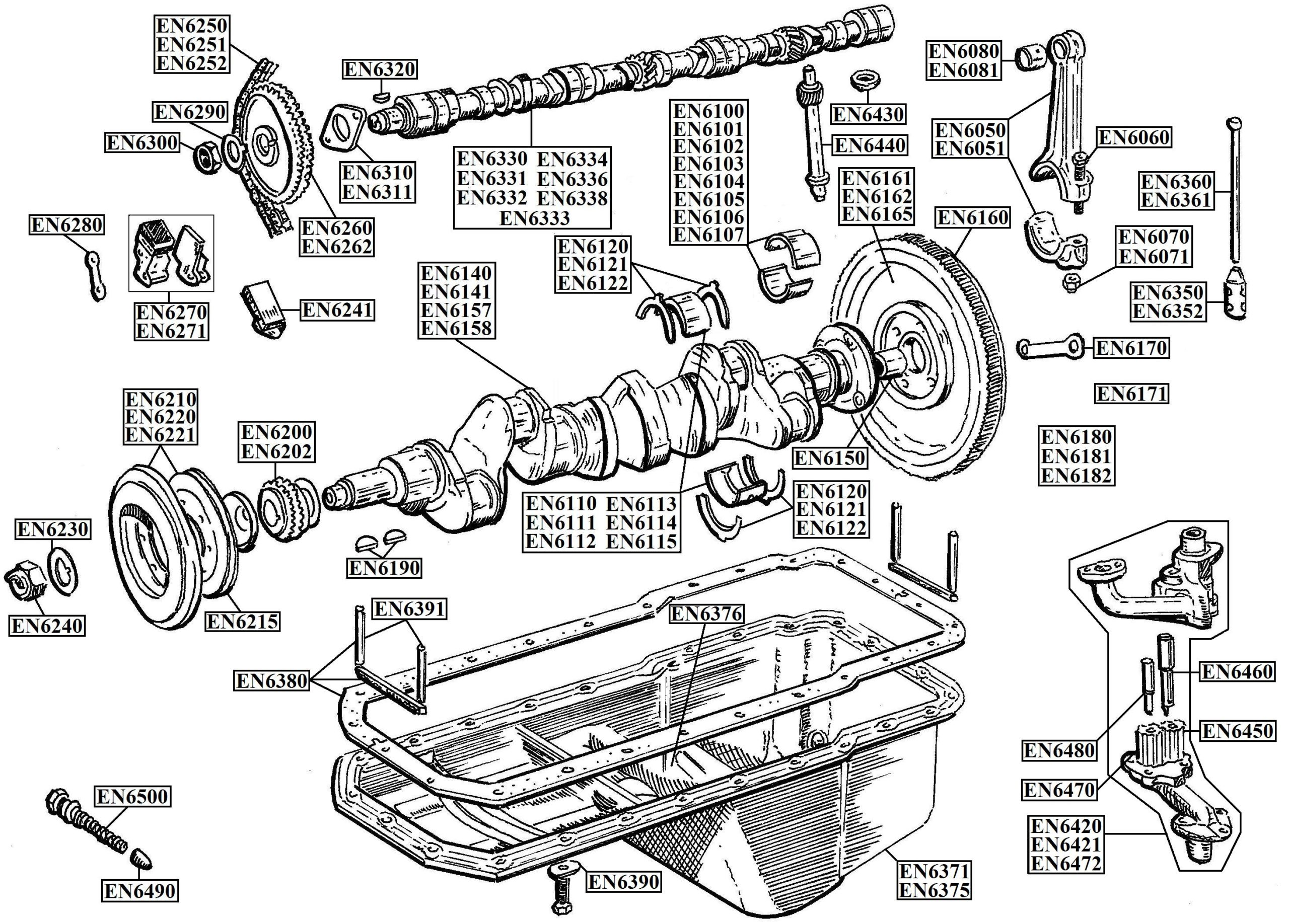 Austin Healey 6 Cylinder Engines