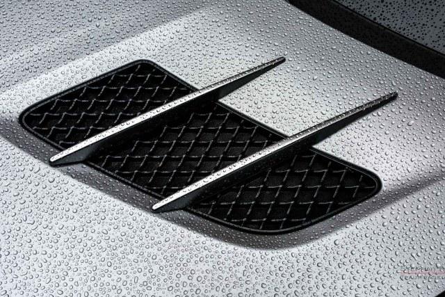 MERCEDES-BENZ SLS AMG, Studioaufnahme, Detail Motorhaube, Regentropfen. Automobil-Fotografie: Stephan Hensel, Hamburg