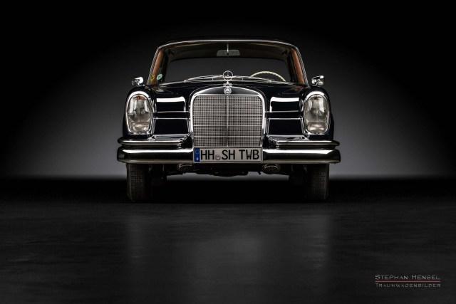 Mercedes-Benz 230 S, Frontalansicht, Autofotografie: Stephan Hensel, Hamburg, Oldtimerfotograf