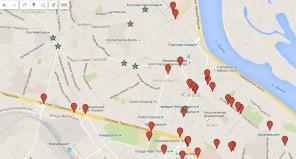 Autogeek составил киевскую карту камер фотофиксации нарушений ПДД