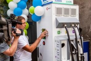 В Киеве установили еще одну скоростную электрозаправку