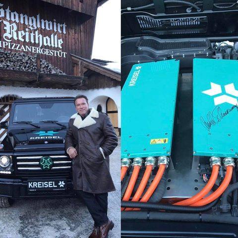 Видео. Австрийцы создали электрический Mercedes G-Class. Шварценеггер оценил