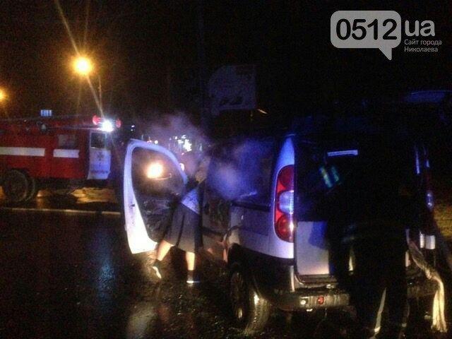 В Николаеве произошло очередное происшествие с электромобилем службы такси