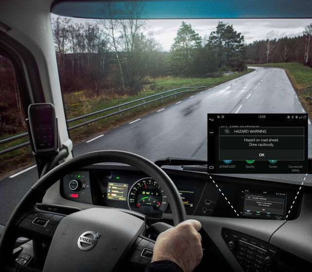 Автомобили Volvo смогут предупреждать друг друга о препятствиях на дорогах