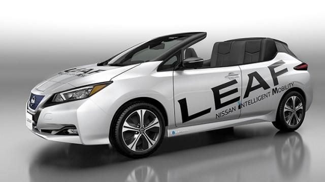 Nissan представил кабрио-версию нового LEAF
