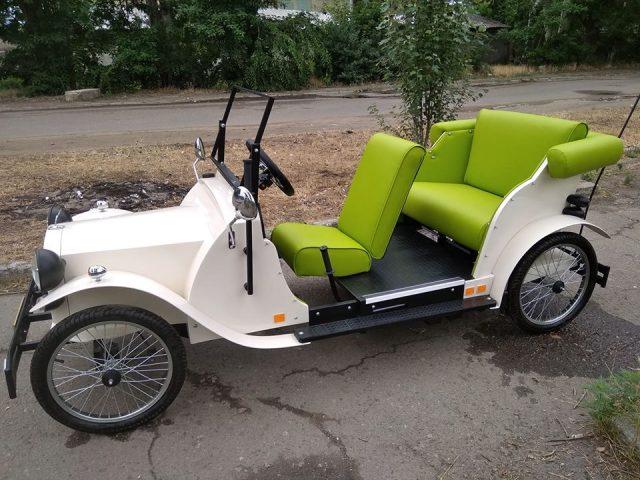 """""""Антилопа-гну"""" на батарейках: одессит сконструировал уникальный ретро-электромобиль. Фото"""