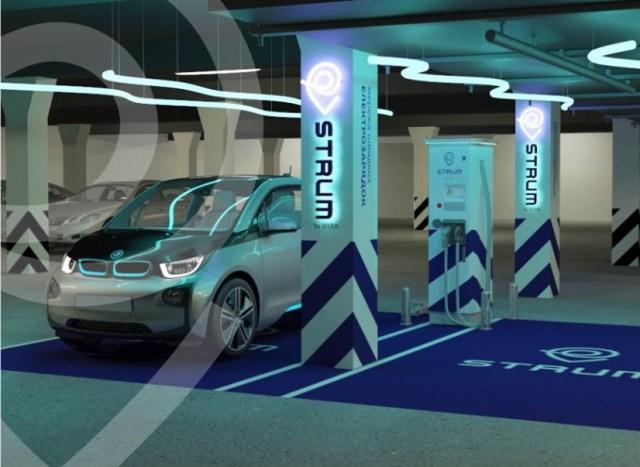 Стало известно, какие электромобили не смогут заряжаться на быстрых электрозаправках сети STRUM