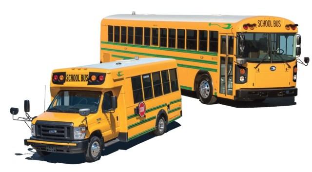 Американских школьников пересадят на электрические автобусы Blue Bird
