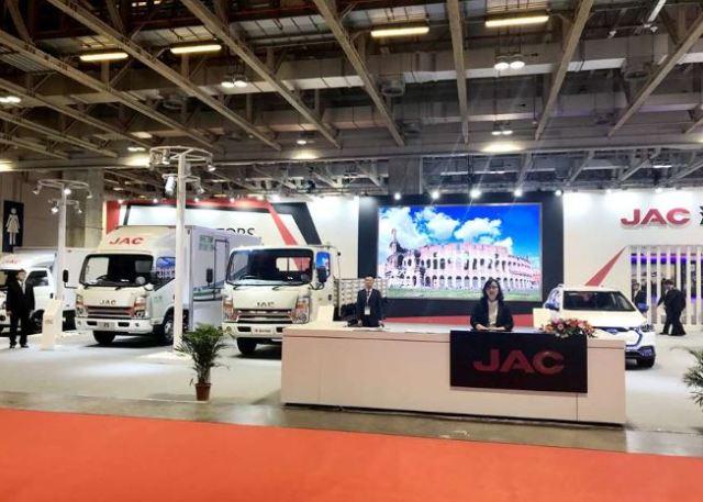 JAC показала на автошоу в Китае сразу несколько электрогрузовиков