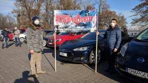 #НДСнаВоздух: водители провели массовые акции по всей Украине из-за отмены льгот на ввоз электромобилей