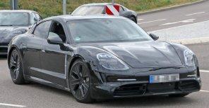 Без палева: Porsche провели испытания электромобиля Taycan на Нюрбургринге, приклеив к нему выхлопные трубы
