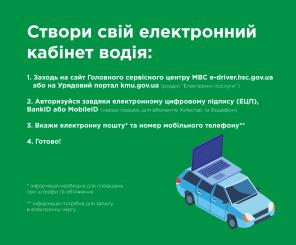 В Украине заработал электронный кабинет водителя: пользователям доступно более пяти услуг