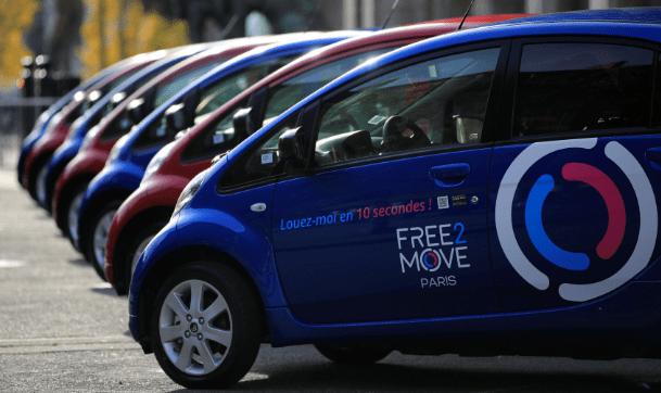 Free2Move: Peugeot Citroen запустили в Париже каршеринг с автопарком в 550 электромобилей