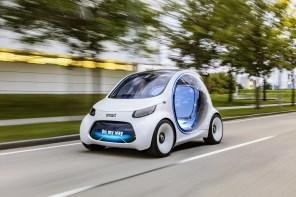 Электромобиль Smart vision EQ в движении оказался просто милахой: опубликовано видео