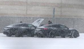 Porsche Taycan тайком привезли в Норвегию, чтобы испытать в условиях морозов