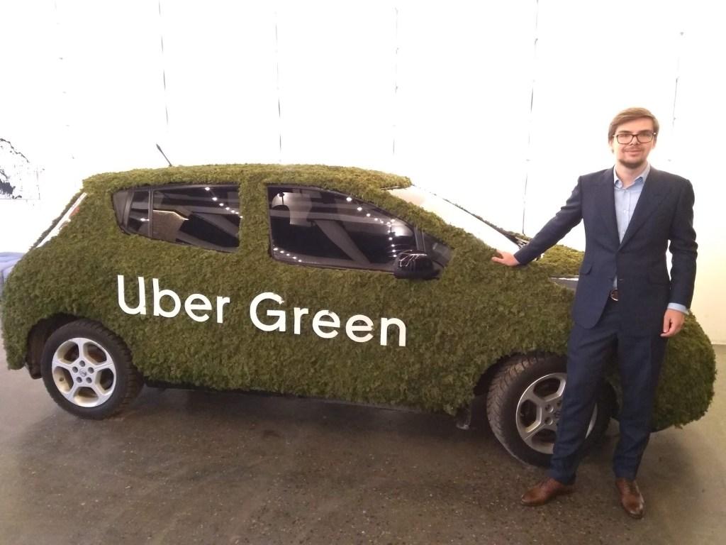 В Киеве запустили полностью электрический сервис UberGreen