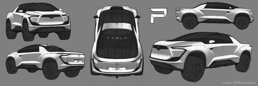 На любителя: дизайнер нарисовал электропикап Tesla в духе Blade Runner