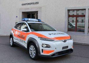 Швейцарские полицейские купили себе 13 электромобилей Hyundai Kona и рады