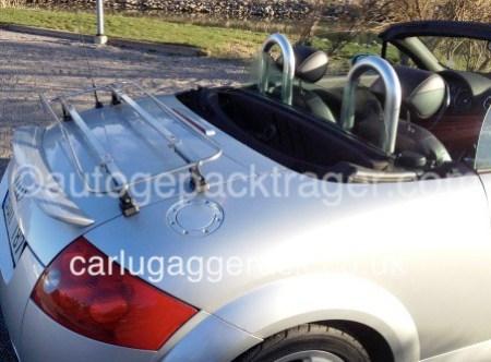 Edelstahl Gepackträger für Audi TT Cabrio passt 8n 8j & 8s