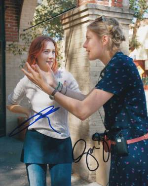 Lady Bird In-person autographed Cast Photo