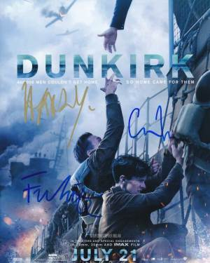 Dunkirk In-person autographed Cast Photo x 3