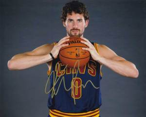 Kevin Love In-person Autographed Photo