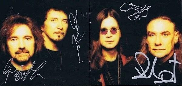 Black Sabbath Reunion autographs CD