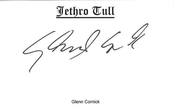 Glenn Cornick of Jethro Tull Autograph #2