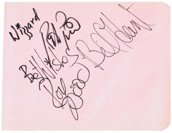 Wizzard autographs including Roy Wood – UACC Registered Autographs